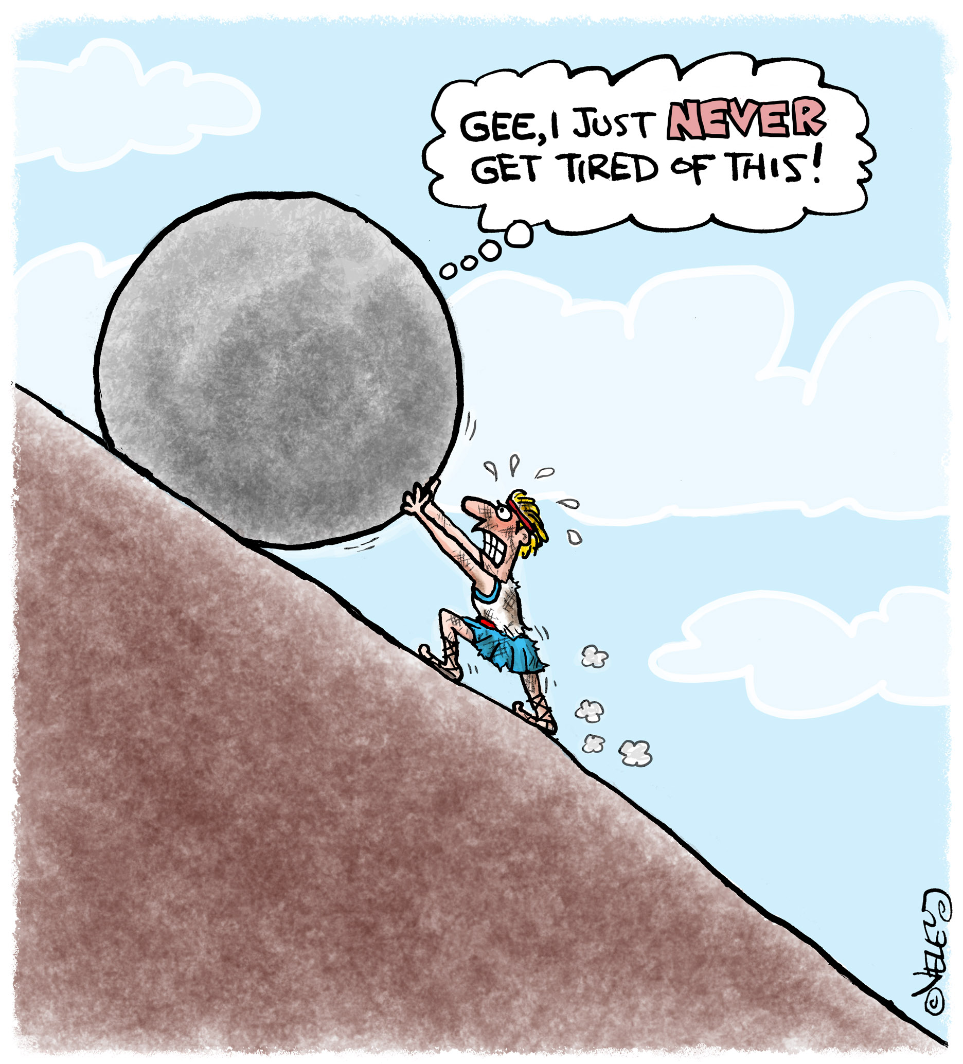 List Of Synonyms And Antonyms Of The Word Sisyphus Cartoon